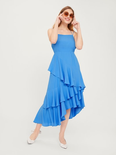 EDITED Kleid 'Olessa' in blau, Modelansicht