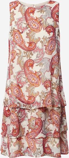 COMMA Kleid in creme / orange / pink, Produktansicht