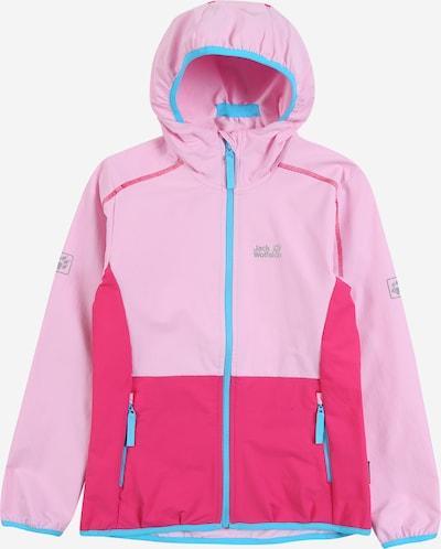 JACK WOLFSKIN Veste outdoor en bleu / bleu ciel / rose, Vue avec produit