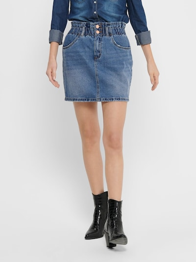 ONLY Jeansrock in blau: Frontalansicht