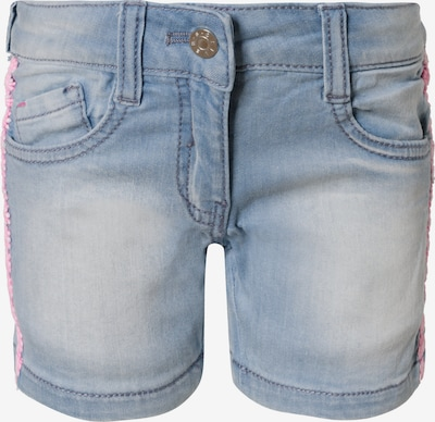 s.Oliver Shorts in blue denim / altrosa, Produktansicht
