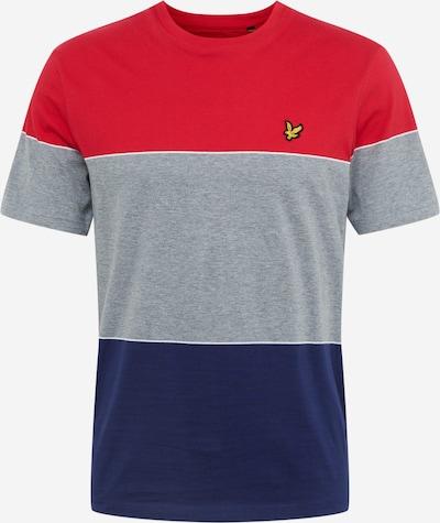 Lyle & Scott T-Shirt en bleu marine / gris / rouge: Vue de face