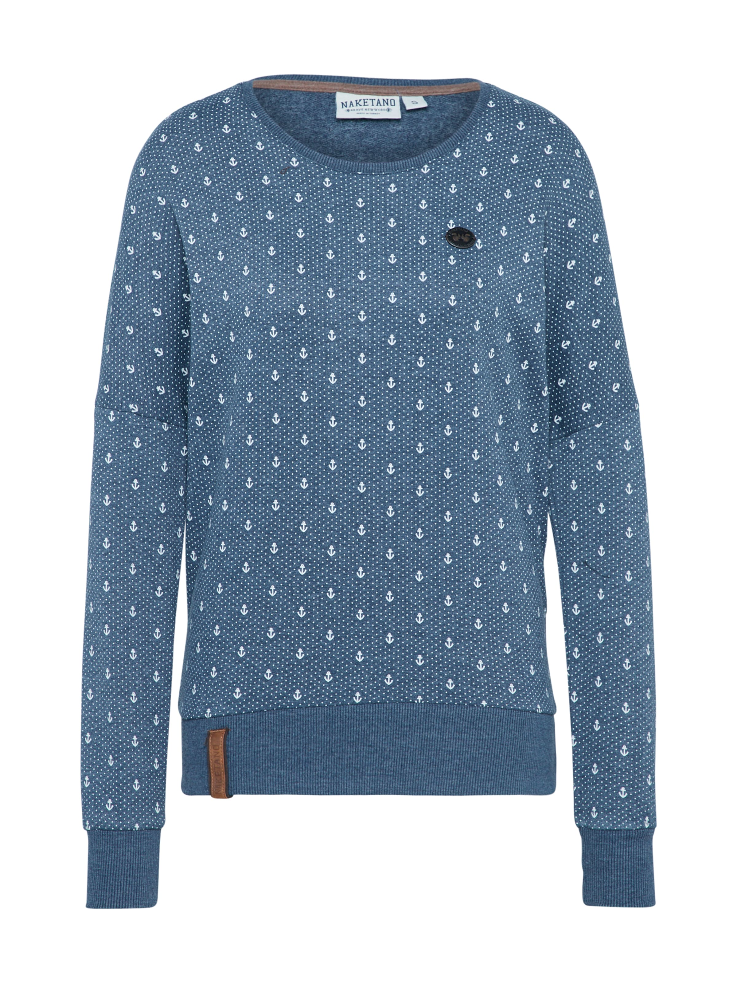 En ChinéBlanc 'jane Naketano Forensik' Sweat shirt Bleu kiPXZu