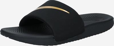 NIKE Strand-/badschoen 'KAWA' in de kleur Goud / Zwart, Productweergave