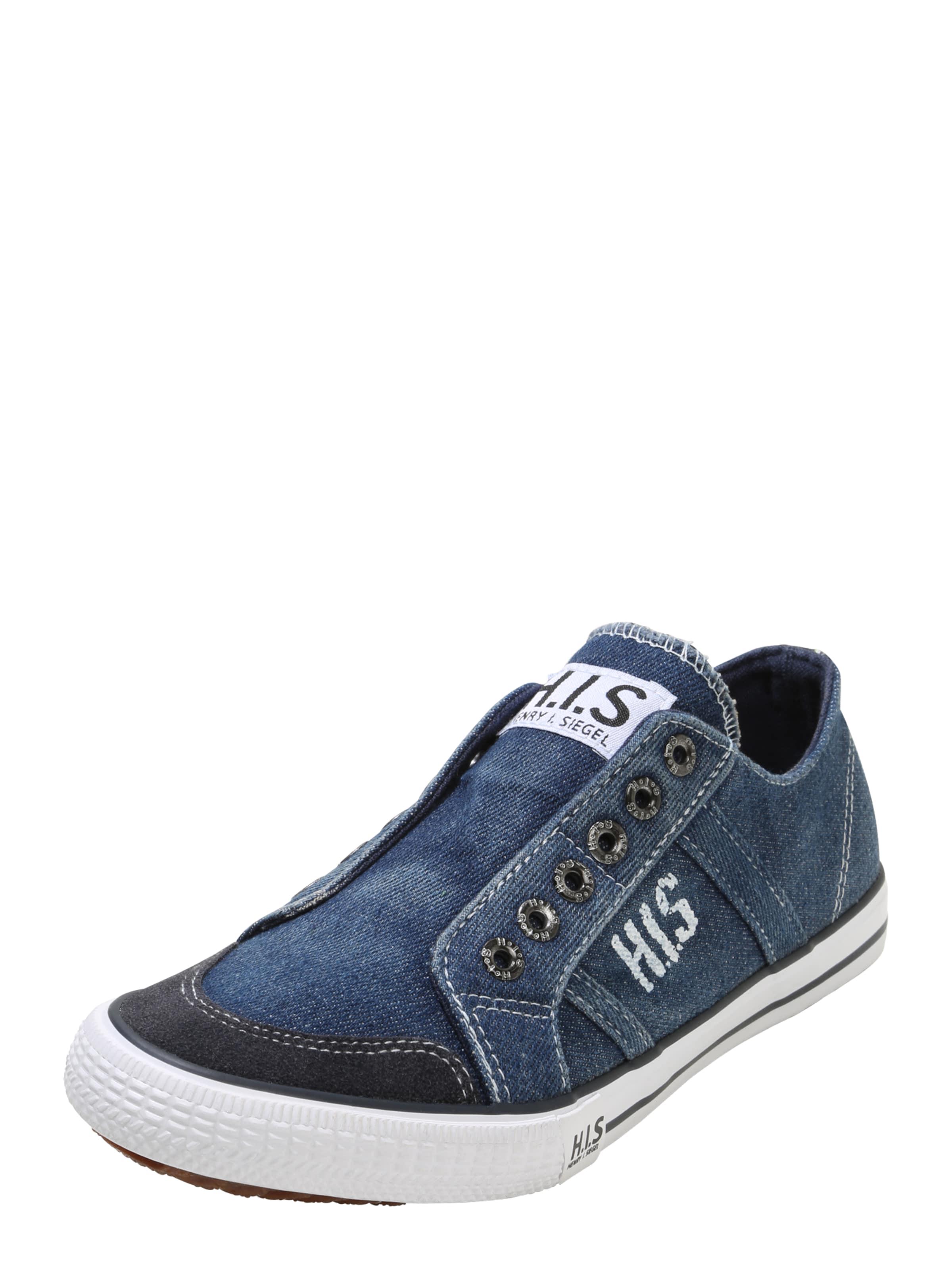 H.I.S Sneaker im Canvas-Look hellgrau / weiß Z7s8dkFmVQ