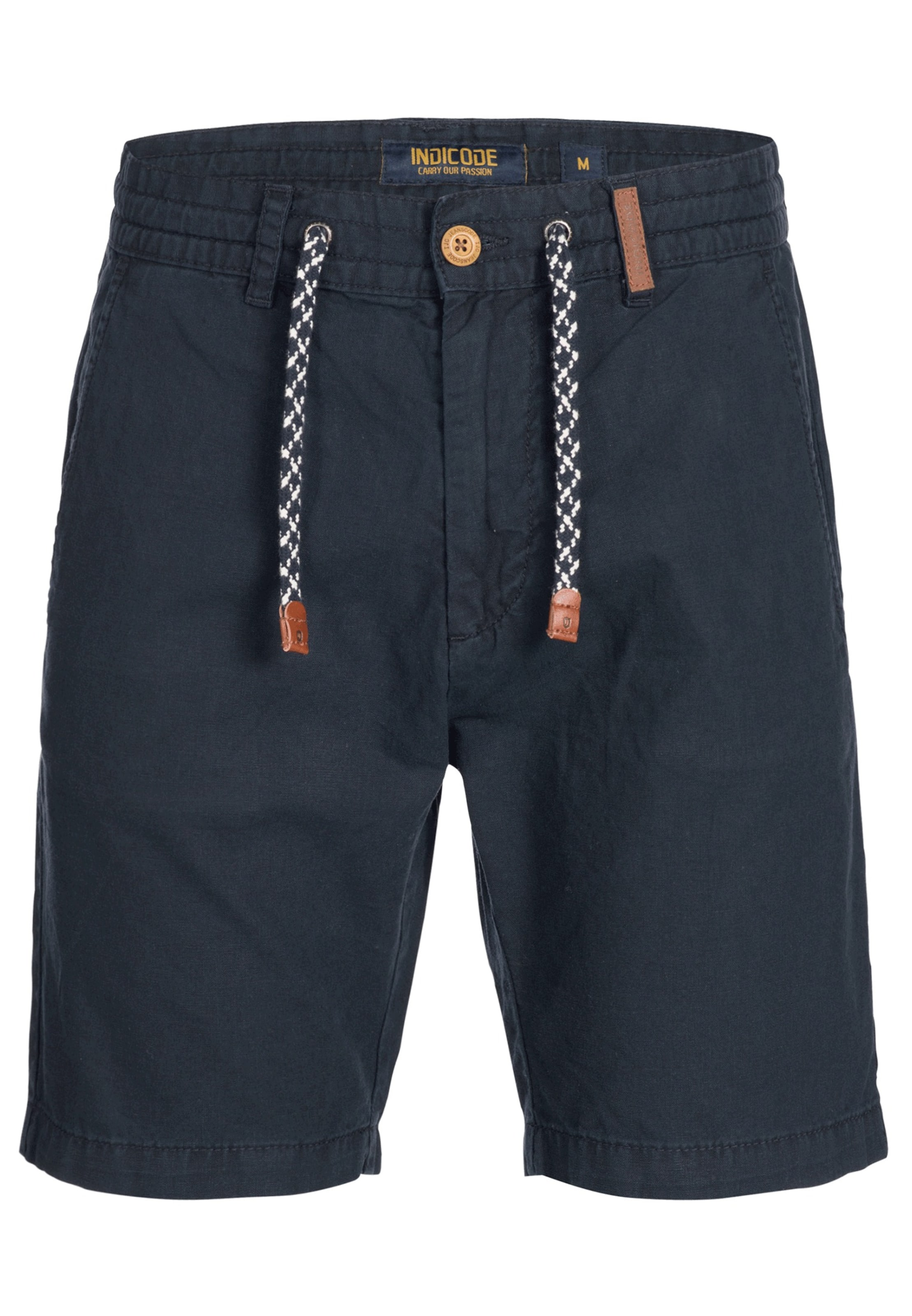 Jeans Shorts Indicode In Navy 'bowmanville' O8wkn0XP