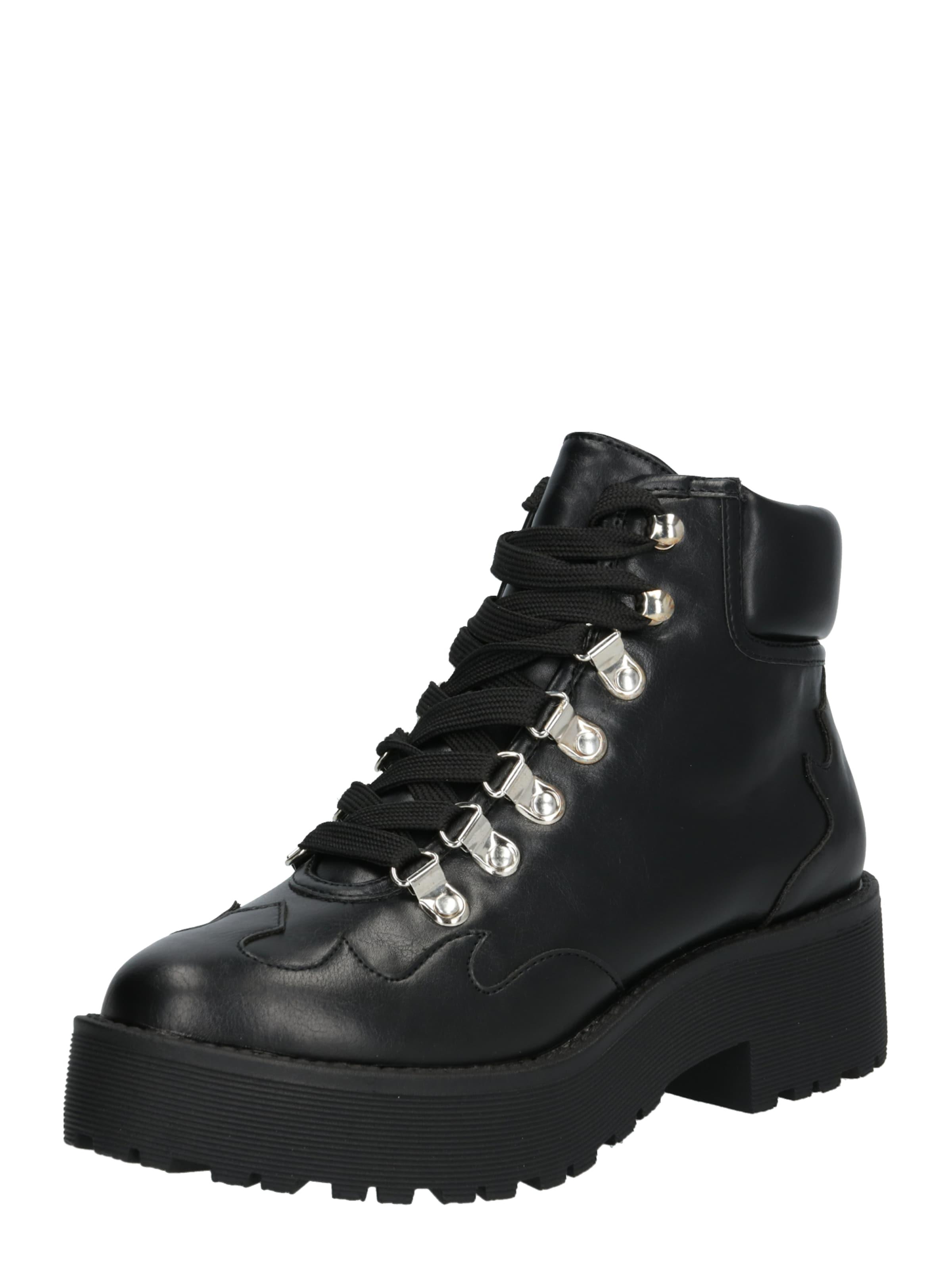 Na Stiefeletten Laceup kd Detail Ankle Western Schwarz Boot' In hxrtQsdC