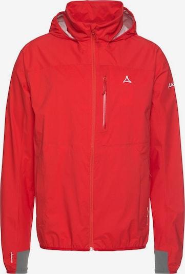Schöffel Regenjacke 'NEUFUNDLAND' in rot, Produktansicht