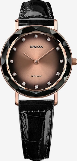 JOWISSA Quarzuhr 'Aura' Swiss Ladies Watch in rosegold / schwarz, Produktansicht