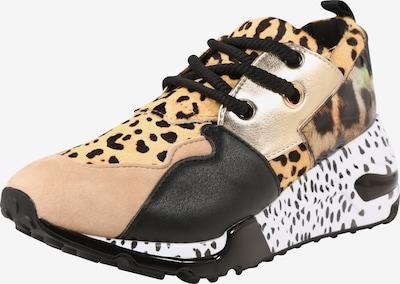 STEVE MADDEN Sneaker in hellbraun / schwarz / silber, Produktansicht