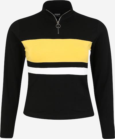 Urban Classics Curvy T-shirt en jaune / noir / blanc, Vue avec produit
