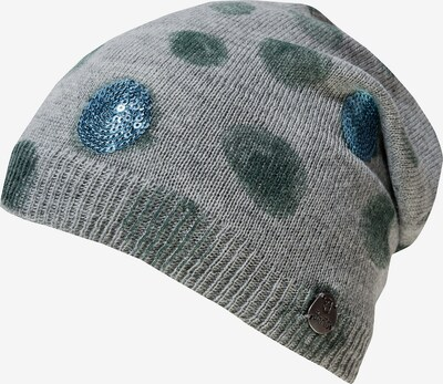 Barts Bommelmütze' Mashu' in blau / grau / grün, Produktansicht