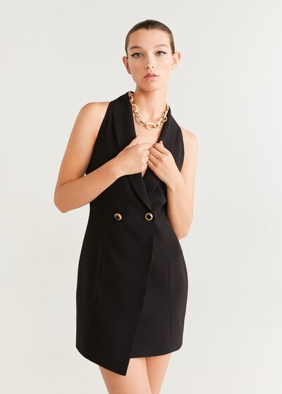 MANGO Kleid 'Smock' in schwarz, Modelansicht