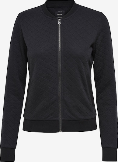 Only (Tall) Sweatvest 'Joyce' in de kleur Zwart, Productweergave
