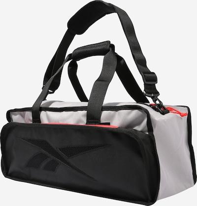 Sportinis krepšys iš REEBOK , spalva - šviesiai pilka / raudona / juoda, Prekių apžvalga