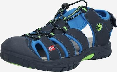 TROLLKIDS Open schoenen 'Kids Kvalvika Sandal' in de kleur Navy / Groen, Productweergave