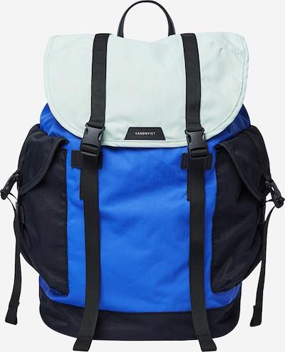 SANDQVIST Rucksack 'CHARLIE' in blau / grün / schwarz, Produktansicht
