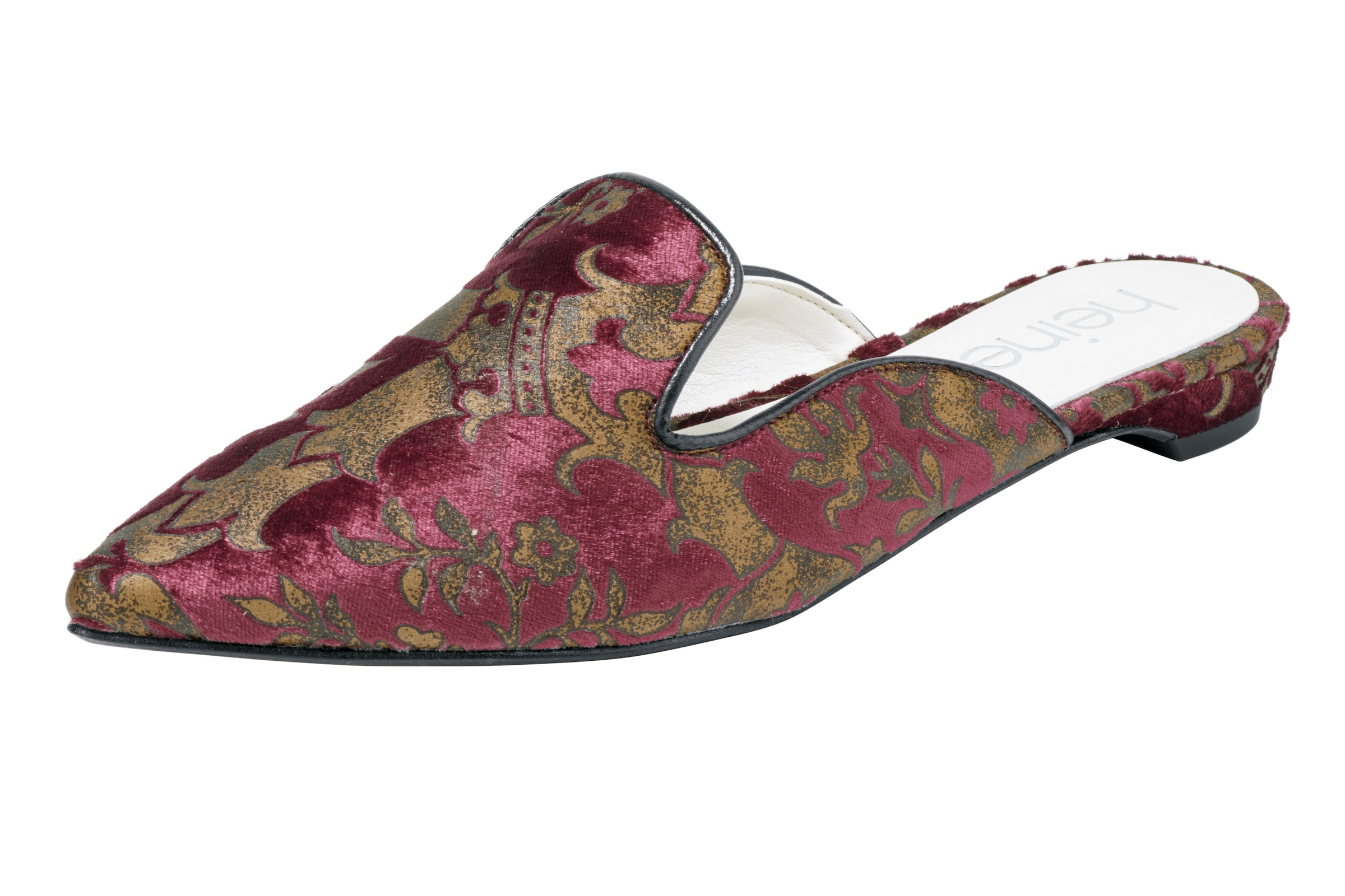 heine Pantolette aus Samt Verschleißfeste billige Schuhe