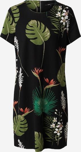 ONLY Kleid 'POP TRASH' in grün / schwarz: Frontalansicht