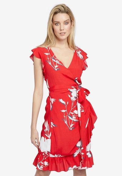 khujo Kleid 'Emery' in dunkelgrau / feuerrot / weiß, Produktansicht
