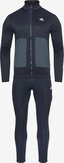 ADIDAS PERFORMANCE Trainingsanzug 'Fabric Mix' in himmelblau / dunkelblau, Produktansicht