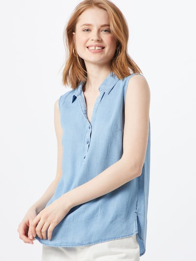 TOM TAILOR Bluse in hellblau, Modelansicht