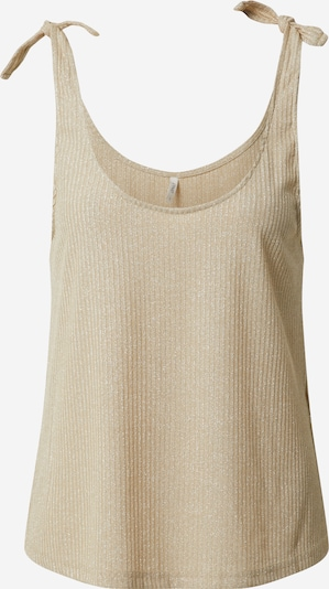 ONLY Top 'ONLPERLA S/L GLITTER TOP JRS' in beige, Produktansicht