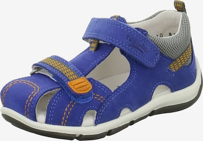 SUPERFIT Lauflernschuhe in blau / hellgrau / dunkelgrau / hellorange / weiß, Produktansicht