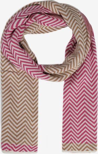 Zwillingsherz Schal 'ZickZack Muster ' in pink, Produktansicht