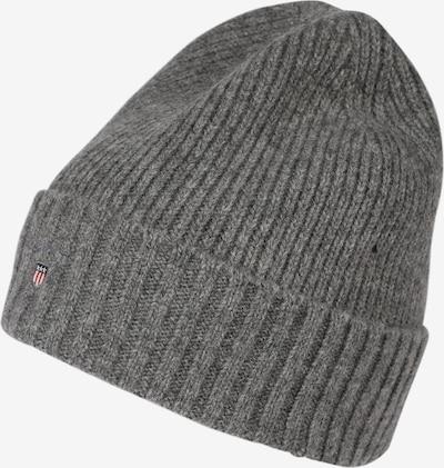 Megzta kepurė iš GANT , spalva - margai pilka: Vaizdas iš priekio