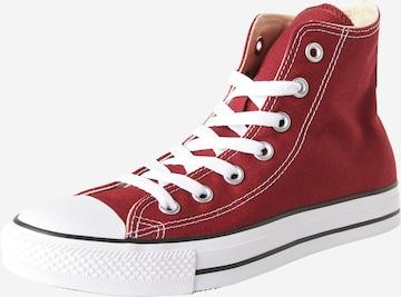 CONVERSE Členkové tenisky 'Chuck Taylor All Star Hi' - Červená