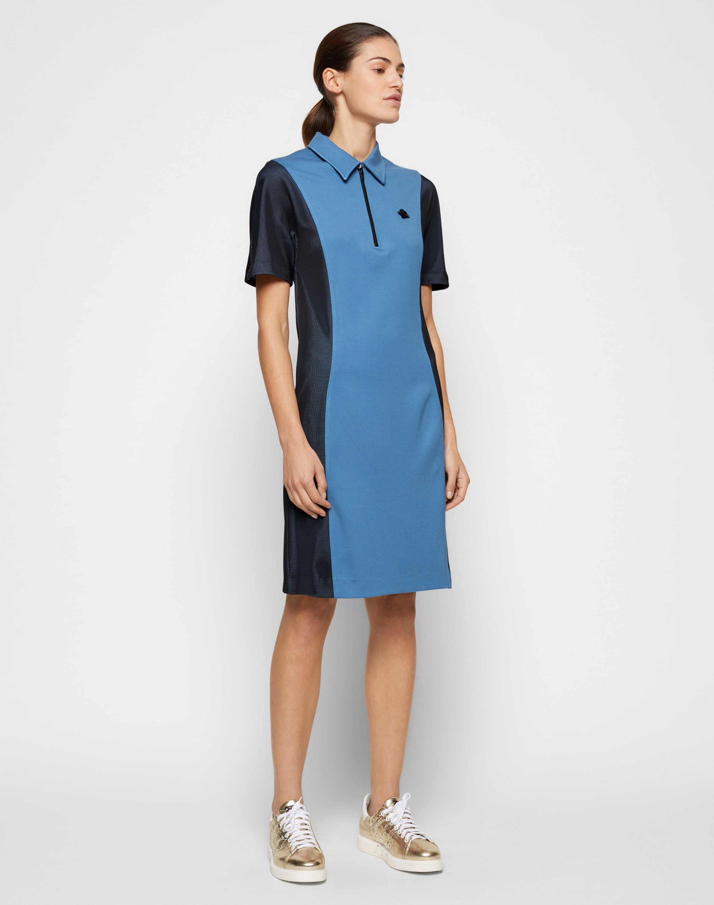 Spielraum Beste Preise Love Moschino Kleid mit Polokragen Breite Palette Von Neue Preiswerte Online biuwE