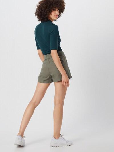 GAP Kalhoty 'LINEN PULL ON SHORT' - zelená: Pohled zezadu
