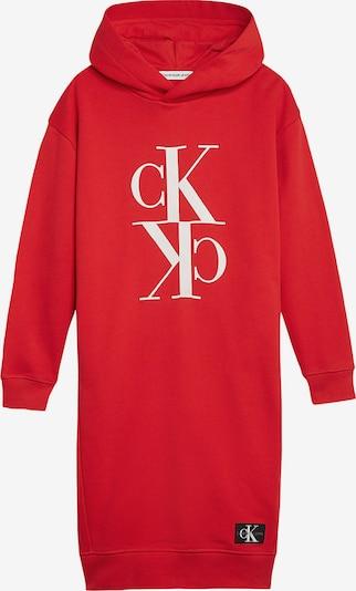Calvin Klein Jeans Kleid in rot / weiß, Produktansicht