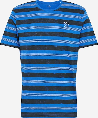 TOM TAILOR Shirt in de kleur Blauw / Kobaltblauw / Wit, Productweergave