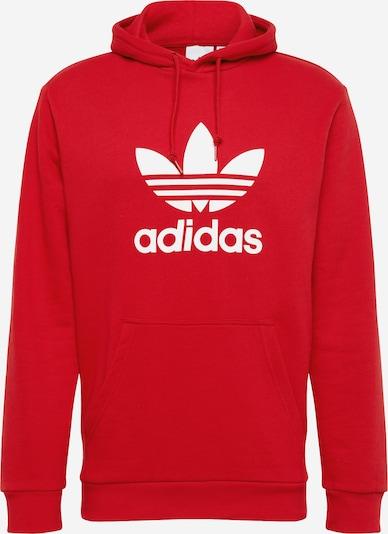 ADIDAS ORIGINALS Sweat-shirt ' Trefoil ' en rouge, Vue avec produit