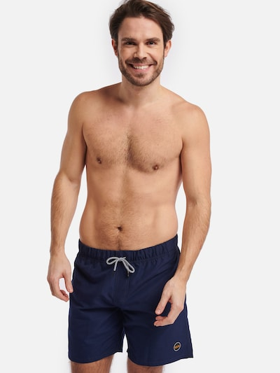 Shiwi Badehose 'Solid mike' in navy: Frontalansicht