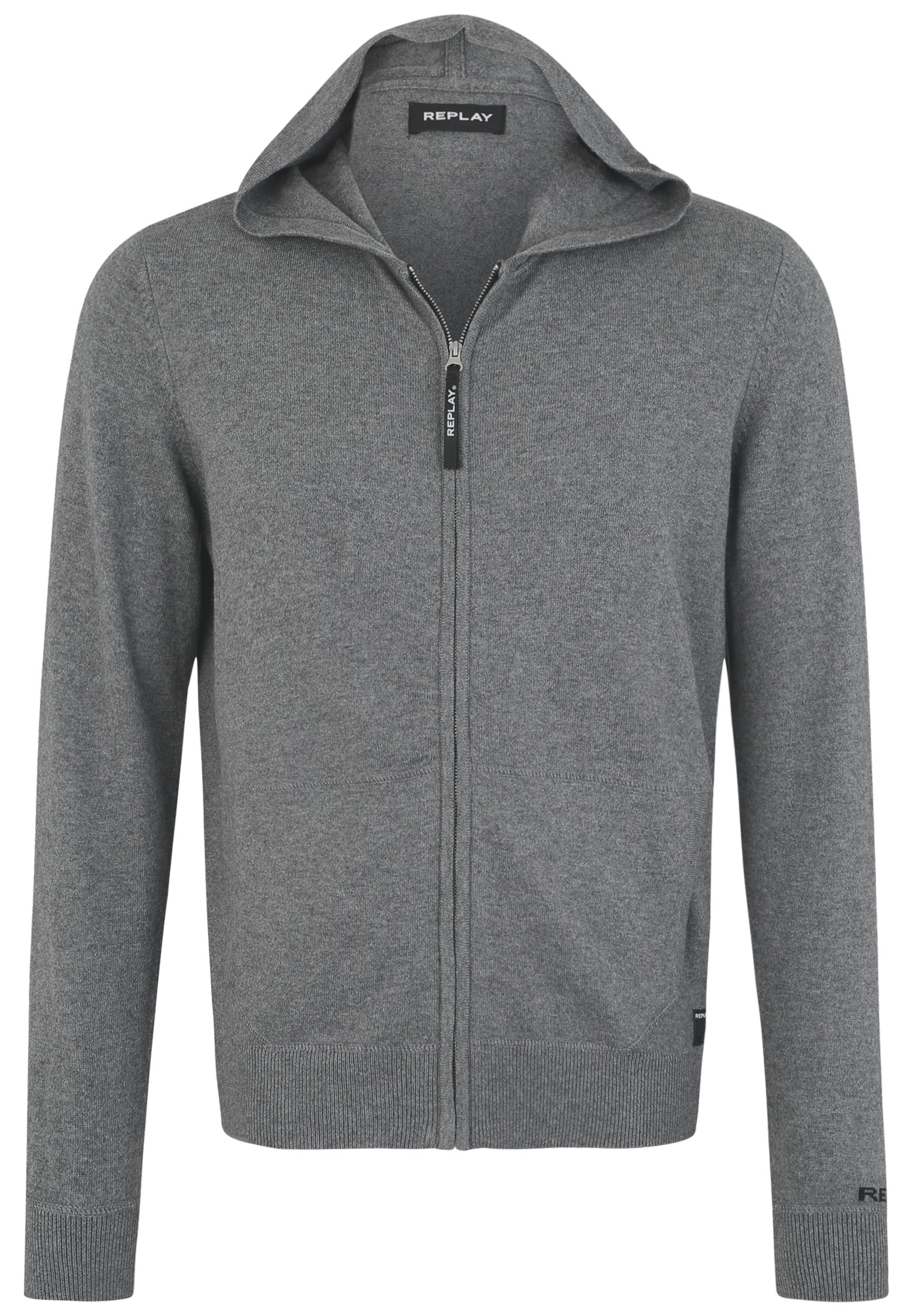 Grau In Replay Strickjacke Kapuze Mit QdxotChsrB