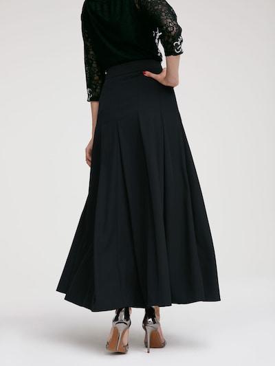 Sijonas iš heine , spalva - juoda: Vaizdas iš galinės pusės