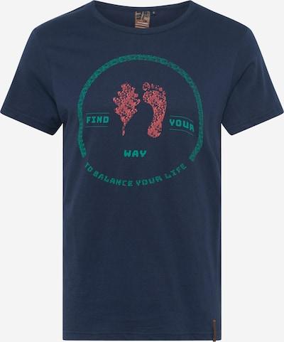 Sportiniai marškinėliai 'AKIAK' iš ICEPEAK , spalva - tamsiai mėlyna / nefrito spalva / pastelinė raudona, Prekių apžvalga
