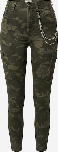 Tally Weijl Cargo hlače 'Woven' u zelena / kaki, Pregled proizvoda
