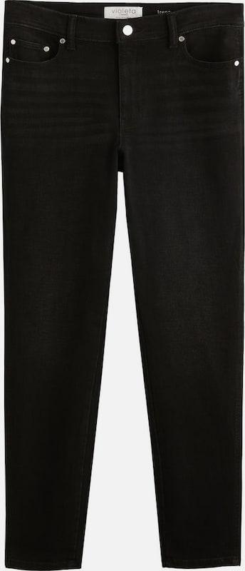 lilaA by Mango Jeans 'Irene' in schwarz denim  Großer Rabatt