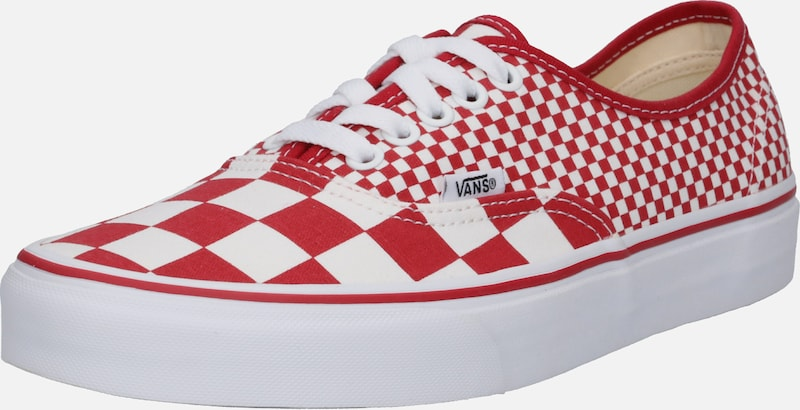 'ua En Basses Vans Authentic' Baskets RougeBlanc P80Okwn