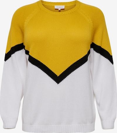ONLY Carmakoma Pull-over en jaune / noir / blanc, Vue avec produit