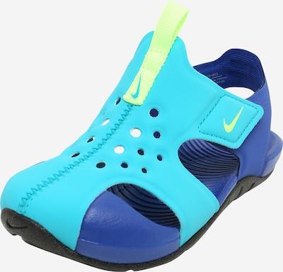 NIKE Schuhe 'SUNRAY' in blau / türkis / kiwi, Produktansicht