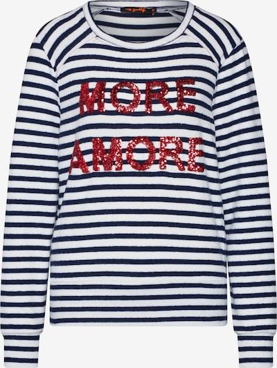 miss goodlife Shirt 'Longsleeve' in de kleur Donkerblauw / Rood / Wit, Productweergave