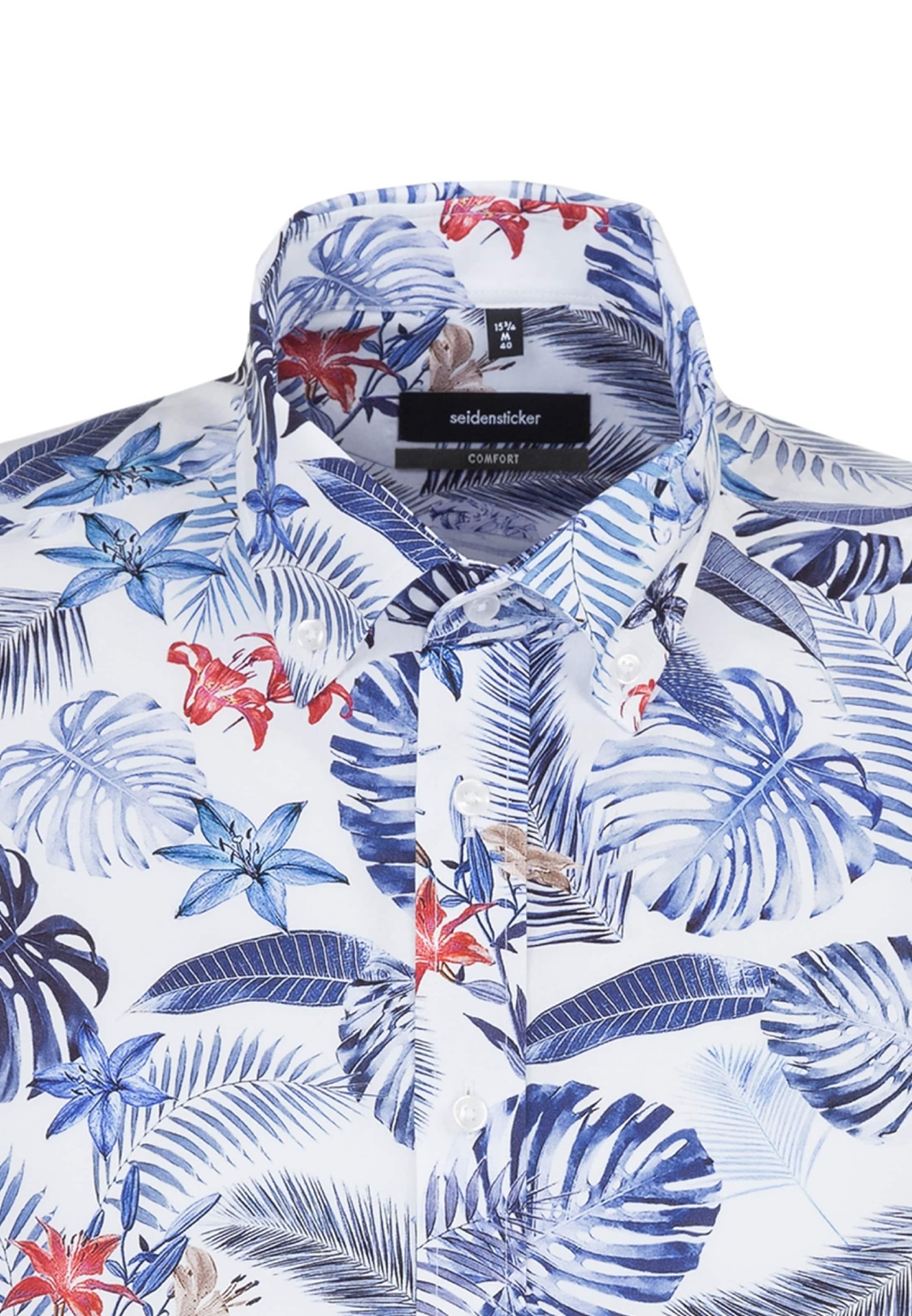 Comfort BlauWeiß Seidensticker Hemd ' In eWH29YDIE