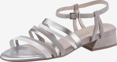 PETER KAISER Sandale in grau / silber / weiß, Produktansicht
