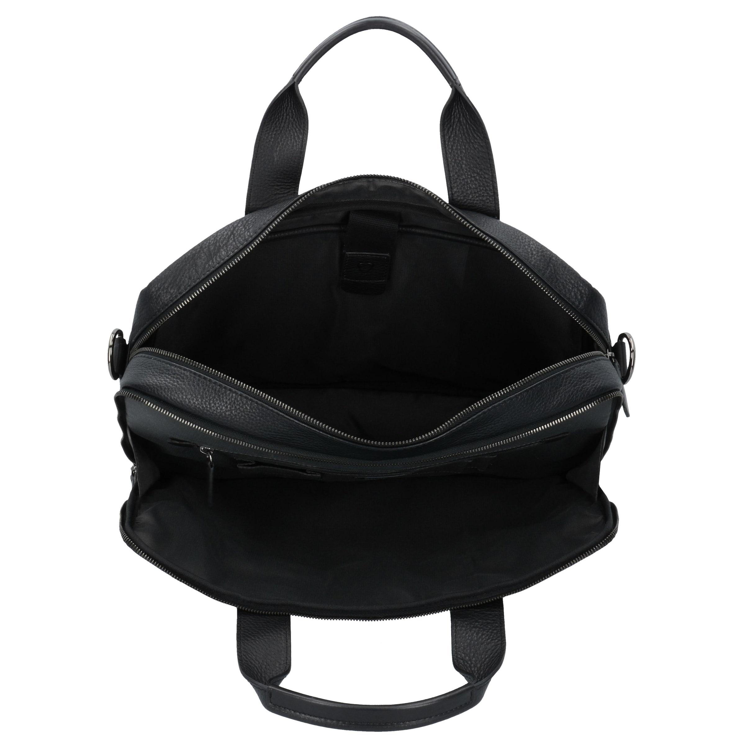 Schwarz Aktentasche 40 Cm In Garret Strellson Leder Laptopfach H2E9DI