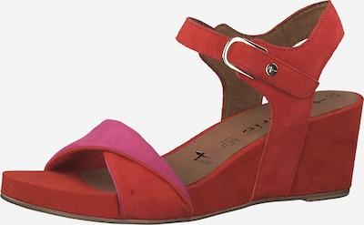 TAMARIS Sandale in pink / rot, Produktansicht